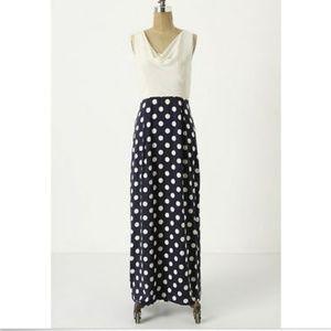 Anthropologie Moulinette Soeurs Maxi Silk Dress